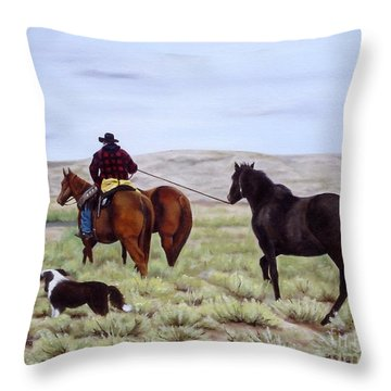 Just Might Rain Throw Pillow by Mary Rogers
