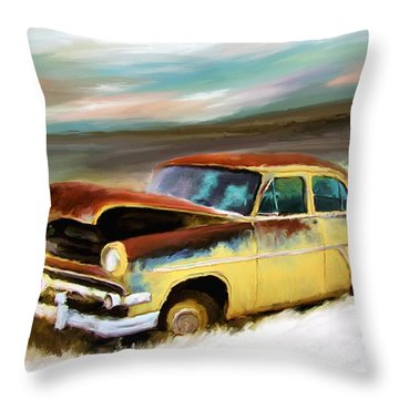 Just Needs A Paint Job Throw Pillow by Susan Kinney