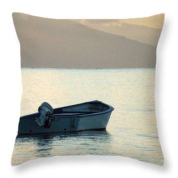 Just Off Molokai Throw Pillow