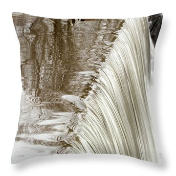 Just On The Edge Throw Pillow by Karol Livote