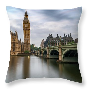 Just Past Six Throw Pillow