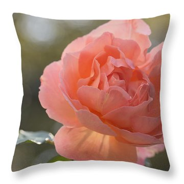 Throw Pillow featuring the photograph Just Peachy by Julie Andel