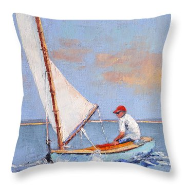 Just Play Throw Pillow by Trina Teele