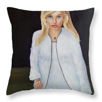 Just Posing Throw Pillow