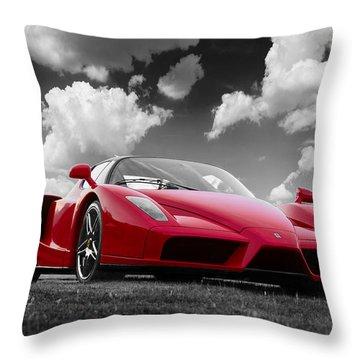 Just Red 1 2002 Enzo Ferrari Throw Pillow