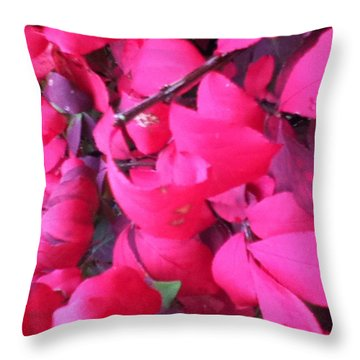 Just Red/pink Throw Pillow