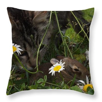 Just Say No Throw Pillow by Bill Stephens