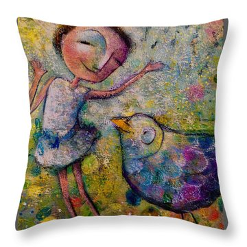 Just Saying Hi Throw Pillow by Eleatta Diver
