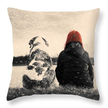 Just Sitting In The Morning Sun Throw Pillow