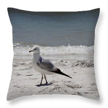 Just Strolling Along Throw Pillow by Megan Cohen