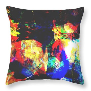Just Talking Throw Pillow by Fania Simon