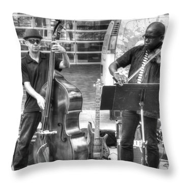 Throw Pillow featuring the photograph Just The Strings by Michael Colgate