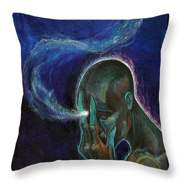 Just The Thought Throw Pillow by Tony Koehl