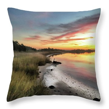 Just The Two Of Us At Sunset Throw Pillow