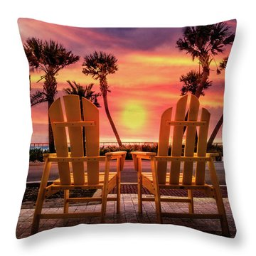Throw Pillow featuring the photograph Just The Two Of Us by Debra and Dave Vanderlaan