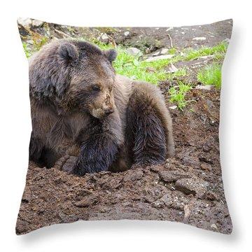 Just Thinkin Throw Pillow