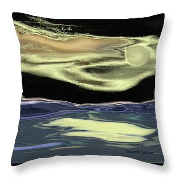 Just This Side Of Midnight Throw Pillow