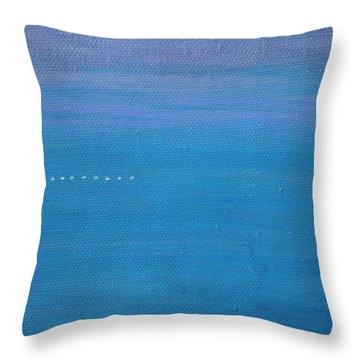 Throw Pillow featuring the painting Just Under The Surface II by Kim Nelson
