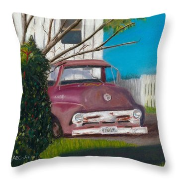 Just Up The Road Throw Pillow by Arlene Crafton