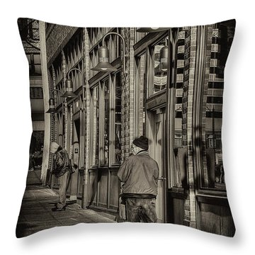 Just Waiting Throw Pillow by David Patterson