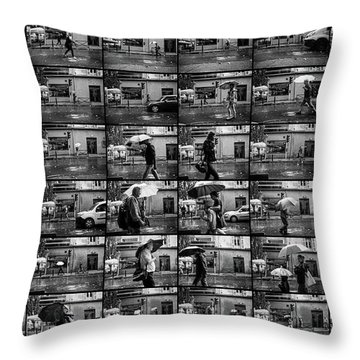 Just Walking In The Rain #01 Throw Pillow