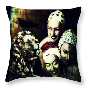 Throw Pillow featuring the digital art Just Washed My Hair by Delight Worthyn