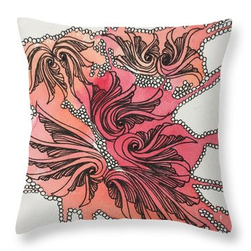 Just Wing It Throw Pillow by Jan Steinle