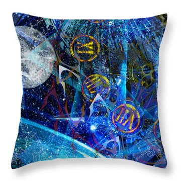 Throw Pillow featuring the digital art Justbecausality by Kenneth Armand Johnson