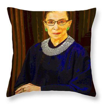 Justice Ginsburg Throw Pillow