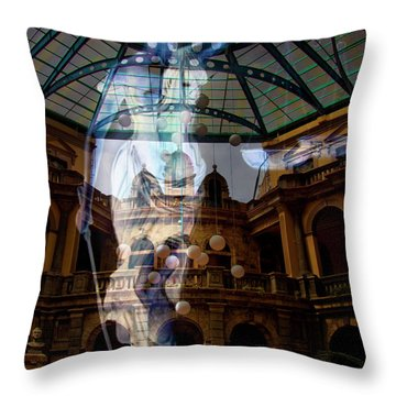 Justice Is Blind Throw Pillow by Al Bourassa