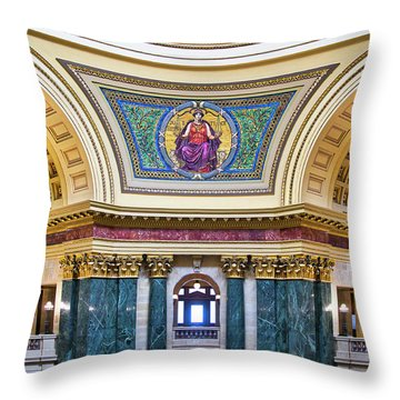 Justice Mural - Capitol - Madison - Wisconsin Throw Pillow