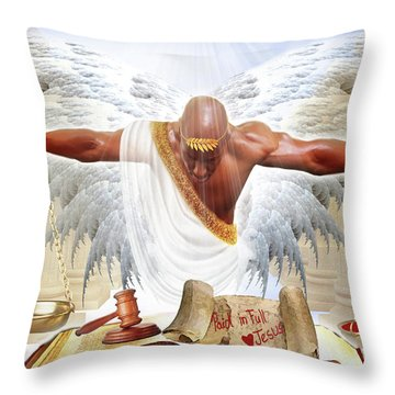 Justice Served Throw Pillow
