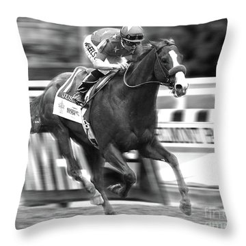 Justify, Belmont Stakes, Triple Crown, 2018 Throw Pillow