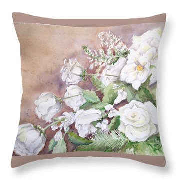 Justin's Flowers Throw Pillow