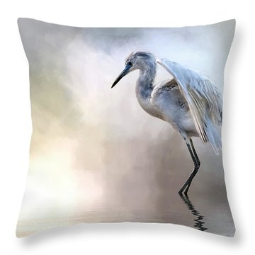 Juvenile Heron Throw Pillow