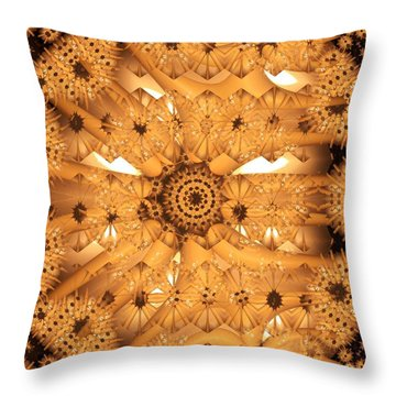 Throw Pillow featuring the digital art Juxtapose by Ron Bissett