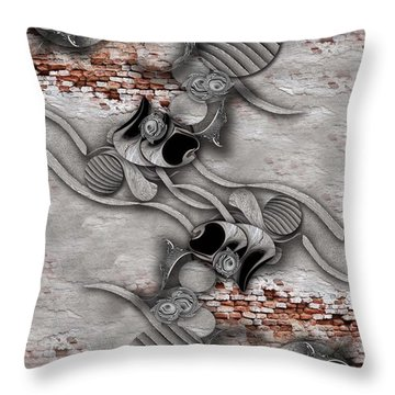 Juxtaposed Compilation Constructed Throw Pillow