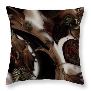 Juxtaposed Nature Throw Pillow