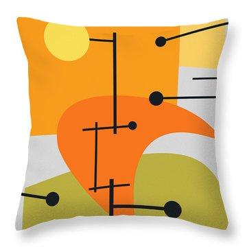 Retro Abstract Throw Pillows