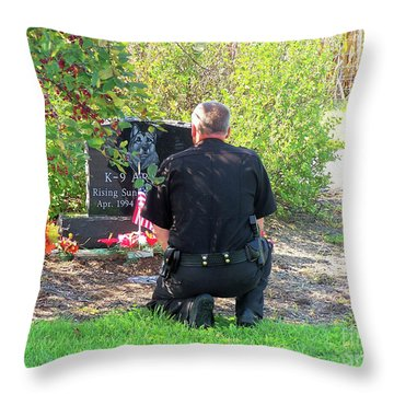 K-9 Arthur Throw Pillow