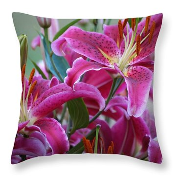 K And D Lilly 4 Throw Pillow