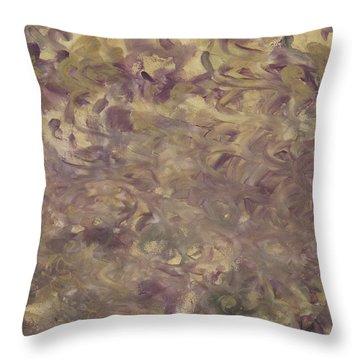 Battle Royal Plum On Gold Throw Pillow