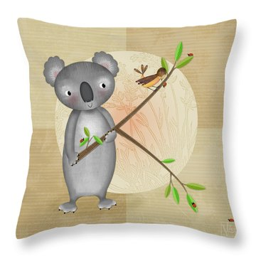 K Is For Koala Throw Pillow