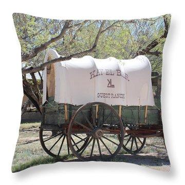 K L Bar Wagon Throw Pillow