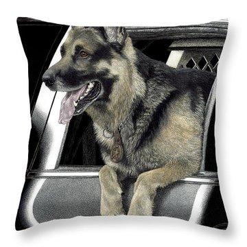 K9 Ronin Throw Pillow