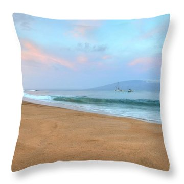 Throw Pillow featuring the photograph Ka'anapali Delight  by Kelly Wade