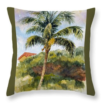 Kaanapali Palm Throw Pillow