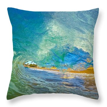 Kaanapali Wave Throw Pillow by James Roemmling