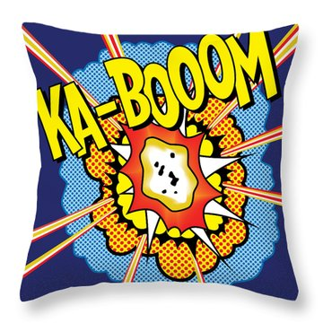 Kabooom Throw Pillow