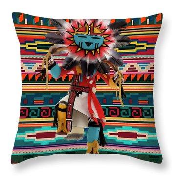 Kachina Doll Art Throw Pillow